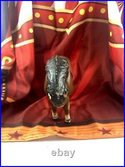 10 Antique American Composition Schoenhut Circus Large Horse Doll! Rare! 18166