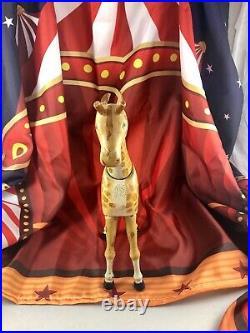 11 Antique American Composition Schoenhut Circus Giraffe Doll! Rare! 18212