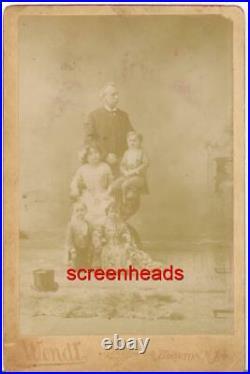 1800s CABINET CARD PHOTO Horvath Midgets Freak Show BARNUM & Bailey CIRCUS
