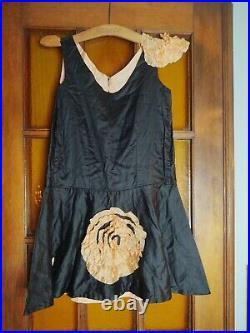 1920s Black And Peach Dancer/Circus Dress