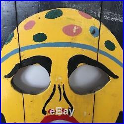 1930's Antique Folk Art CARNIVAL CIRCUS Bean Bag Toss Game Clown