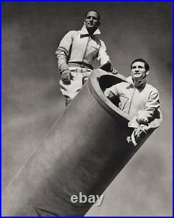 1940s Vintage CIRCUS CARNIVAL Human Cannonball Ringling Bros. Photo Art 16x20