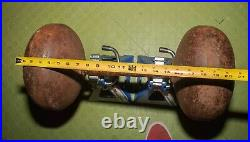 195 Pounds Rare! Antique 1920s/30s Strongman Bodybuilding Dumbbell Weight Circus