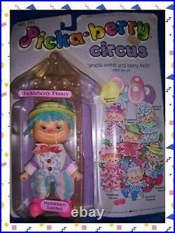1980s Vintage RARE Picka Pick A Berry Circus # 711 Huckleberry Finney Shortcake