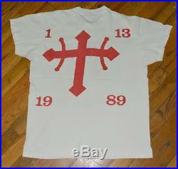 1989 JOEY RAMONES CIRCUS vintage rare nyc concert shirt (L) Blondie Motorhead