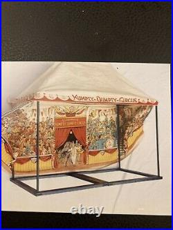 2 antique Shoenhut rectangular circus tents, Early 1920s era toys