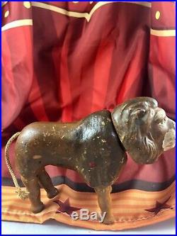 6 Antique American Composition Schoenhut Circus Small Lion Doll! Rare! 18190