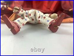 7.5 Antique American Composition Schoenhut Circus Clown Doll! Rare! 18216