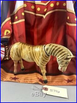 8.5 Antique American Composition Schoenhut Circus Zebra Doll! Rare! 18196