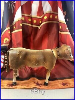 9 Antique American Composition Schoenhut Circus Cow Doll! Rare! Adorable! 18222