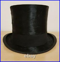 ANTIQUE G. A. DUNN & Co BLACK TOP HAT PICCADILLY CIRCUS LONDON (1940/50s)