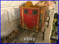 All Original Antique Vintage GIBBS TOY CIRCUS PONY WAGON NO. 53 Circa 1910's