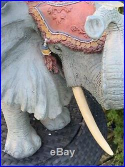 Amazing Vintage Indian Circus ELEPHANT JUMBO table Base stool Plant stand 2ft