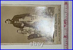 Antique 1860s CDV Photo Waino And Plutano Barnum Bailey Freak Show Circus Card