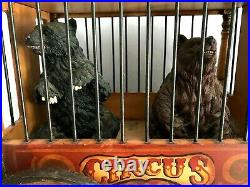 Antique 1920's Barnum & Bailey Circus Carved Wood Wooden Wagon Elephant Bears