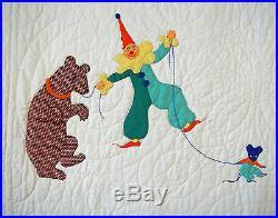 Antique 1940 Circus Kit Quilt