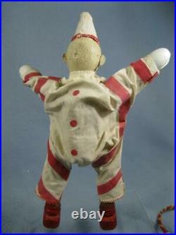 Antique 3 Pc Schoenhut Clown Chair Hoop Original Humpty Dumpty Circus