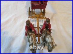 Antique Authentic Kenton Cast Iron Overland Circus Horse-drawn Band Wagon