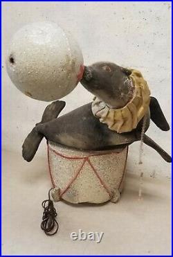 Antique Automaton Window Store Display / Circus Display Seal Not Working, Broke