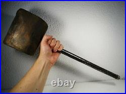 Antique Carnival Heavy Wooden Mallet Circus Strong Man Hammer Games