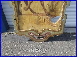 Antique Circus Carnival Sign Folk Art Camel Painting Dentzel Carousel Panel
