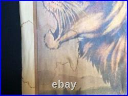 Antique Circus Poster Ringling Bros. & Barnum & Bailey Great Illus Lion