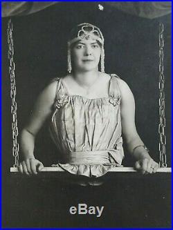 Antique Circus Sideshow RPPC, Half-woman, Legless Woman, Maxine Rowson
