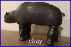 Antique Early 1900s Schoenhut Wood Carved Wooden Humpy Dumpty Circus Bear Toy