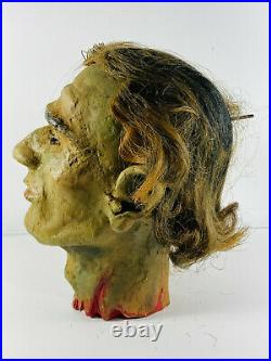 Antique Head of John the Baptist Sideshow Circus Carnival Gaff with Box folk art