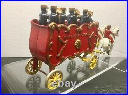 Antique KENTON cast iron horse drawn Circus Band Wagon, ca. 1930, fine condition