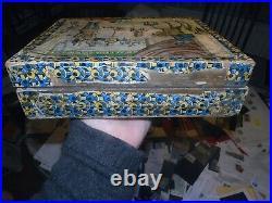 Antique Lithograph Wood Block Puzzle Jigsaw blocks Circus 20 BOXED c 1890 RARE