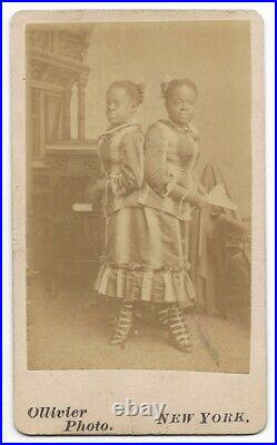Antique MILLIE & CHRISTINE Conjoined Twins SIDESHOW CDV Photo P T Barnum Circus