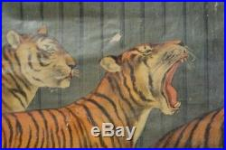 Antique Original Walter L. Main Canvas Circus Poster/Banner