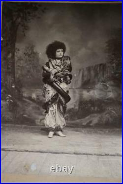 Antique Photo Cabinet Card SNAKE CHARMER Circus Freak Show NATILIME