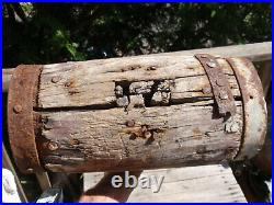 Antique Primitive Huge Wooden Mallet Carnival Circus Strong Man Hammer 35 X 12