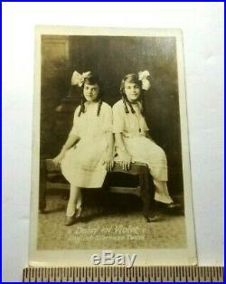 Antique RPPC Circus Sideshow DAISY & VIOLET HILTON SIAMESE TWINS English TX A4