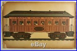 Antique Rare 1887 Circus Panorama Book Elephant Dog Clowns Santa Claus Train Ny