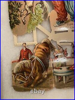 Antique Rare Victorian Circus Uncut Die Cut PT Barnum
