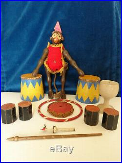Antique Schoenhut Humpty Dumpty Circus toy dated 1900 rare wooden toy