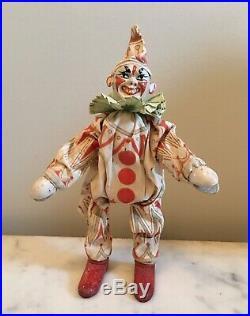 Antique Schoenhut Humpty Dumpty White Face Circus Clown Leather Ears