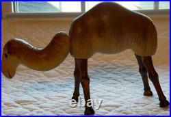 Antique Schoenhut Wooden Single Hump CAMEL Circus Animal Glass Eyes