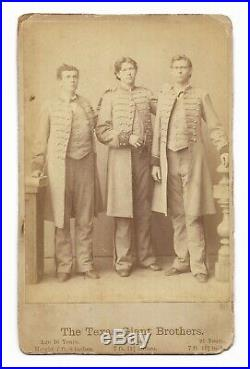 Antique THE TEXAS GIANT BROTHERS Sideshow Circus Freak Show CABINET CARD PHOTO