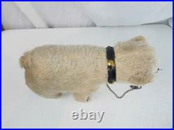 Antique Teddy bear mohair circus 11 nose chain studded collar Steiff Polar