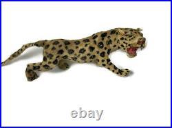 Antique Victorian Folk Art Antique Taxidermy Leopard 18 Toy Display Circus