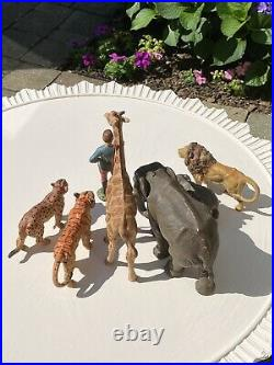 Antique Vintage German Lineol Elastolin Circus Animals And Ring Master
