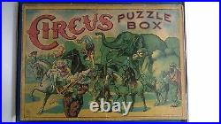 Antique Vintage Milton Bradley CIRCUS puzzle box Clown board game