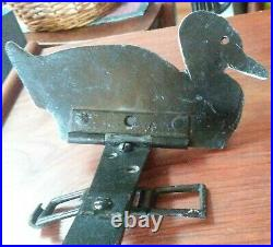 Antique Vtg Pair Shooting Gallery Targets Duck Carnival Midway Circus Boardwalk
