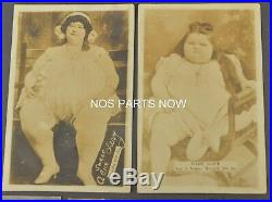 Antique Vtg RPPC Photos Lot Circus Carnival Sideshow Fat Girl Sweet Alice Cherry