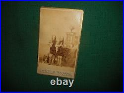Antique WAINO & PLUTANO Wild Men of Borneo SIDESHOW CDV PHOTO Barnum Circus Act