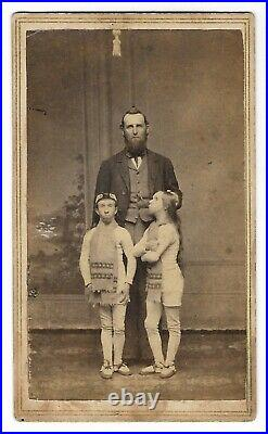 Antique WAINO & PLUTANO Wild Men of Borneo SIDESHOW CDV PHOTO Circus Performers